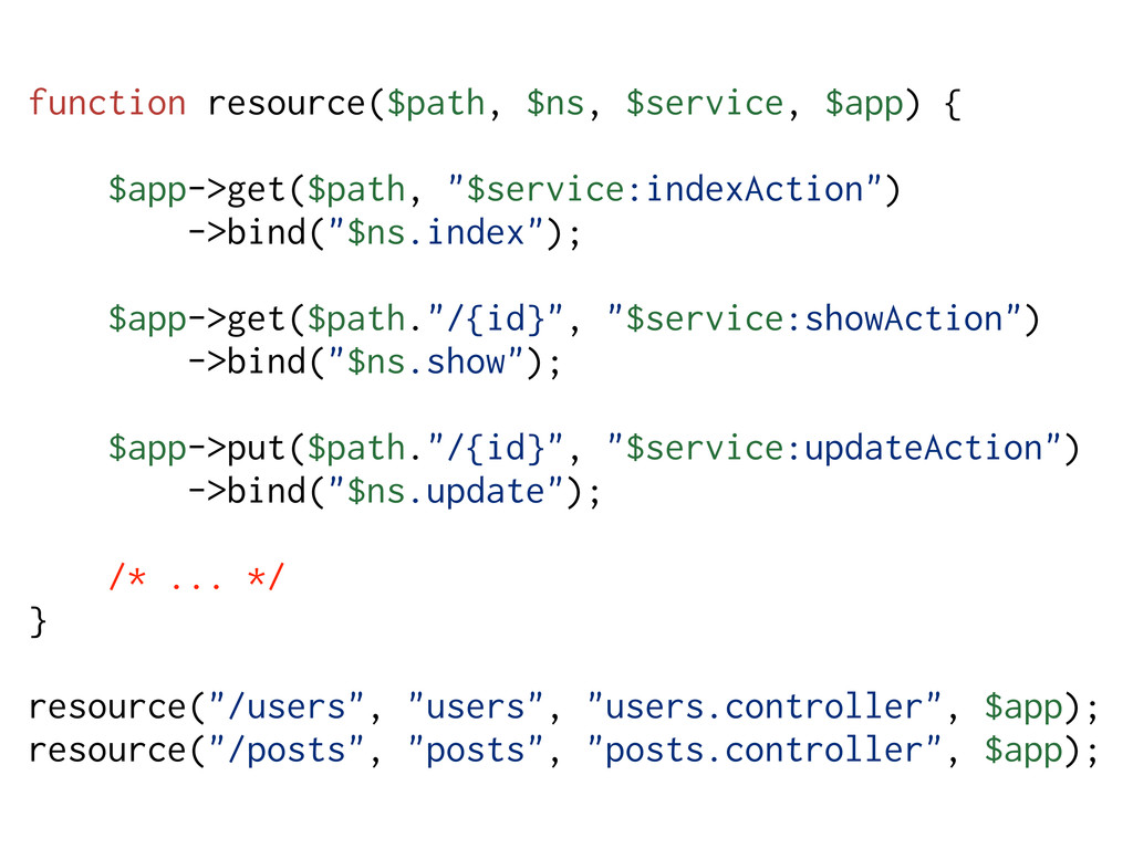 function resource($path, $ns, $service, $app) {...