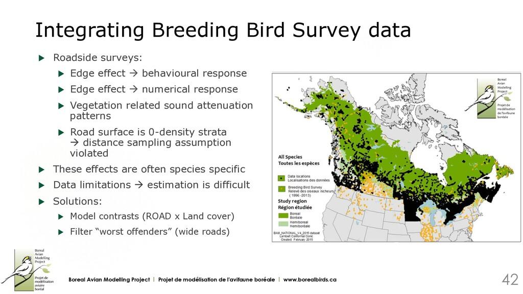 Integrating Breeding Bird Survey data u Roadsi...