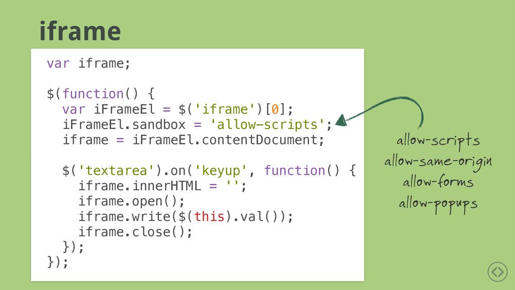 iframe var iframe; ! $(function() { var iFrameE...