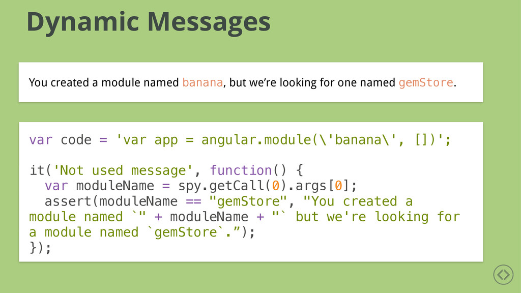 Dynamic Messages You created a module named ban...