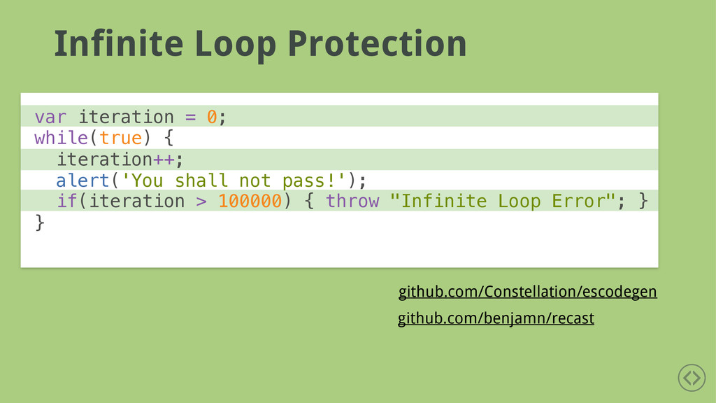 Infinite Loop Protection github.com/Constellati...