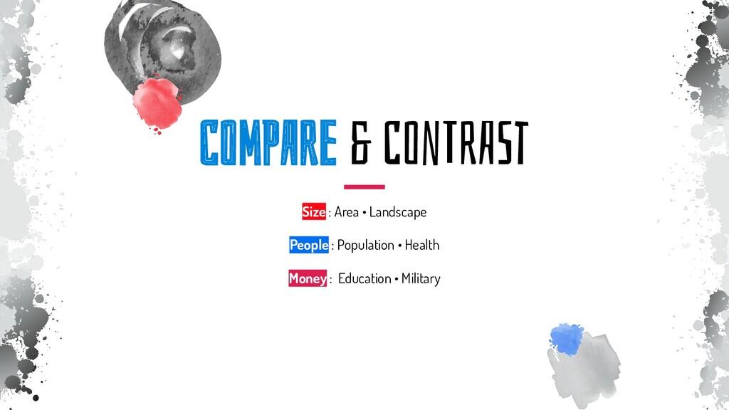 ComPAre & ConTrASt Size : Area • Landscape Peop...