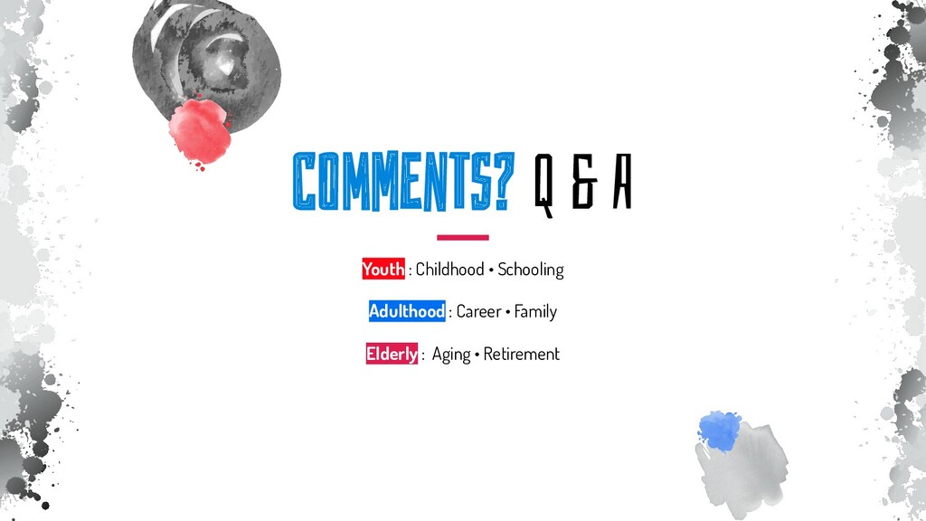ComMEnTs? Q & A Youth : Childhood • Schooling A...