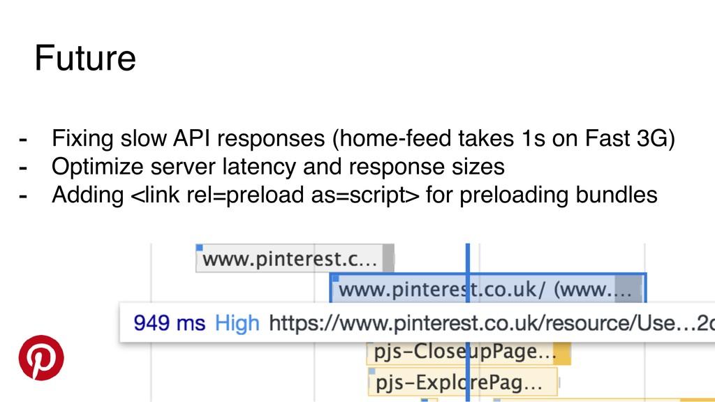 Future - Fixing slow API responses (home-feed t...