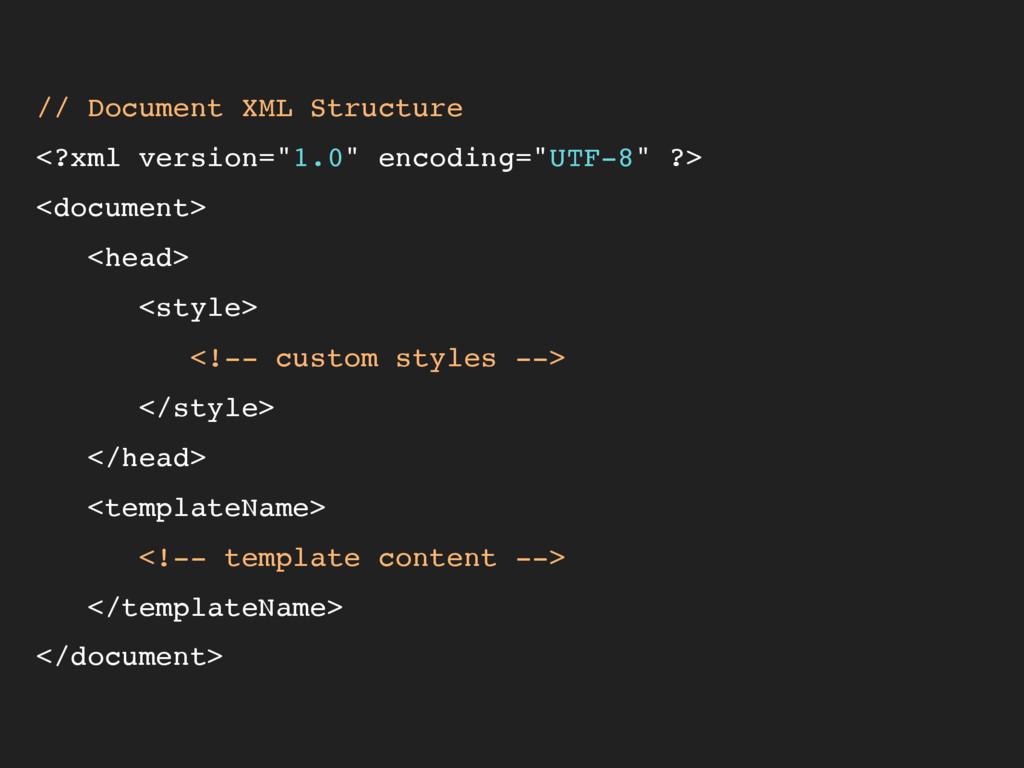 "// Document XML Structure <?xml version=""1.0"" e..."