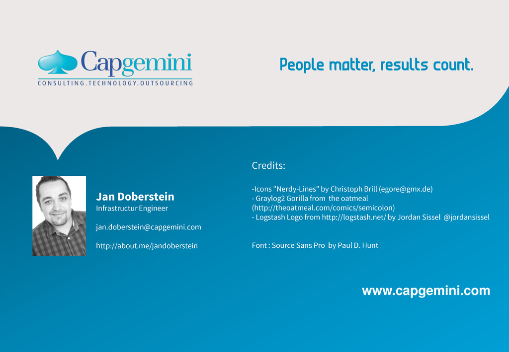 www.capgemini.com Jan Doberstein Infrastructur ...