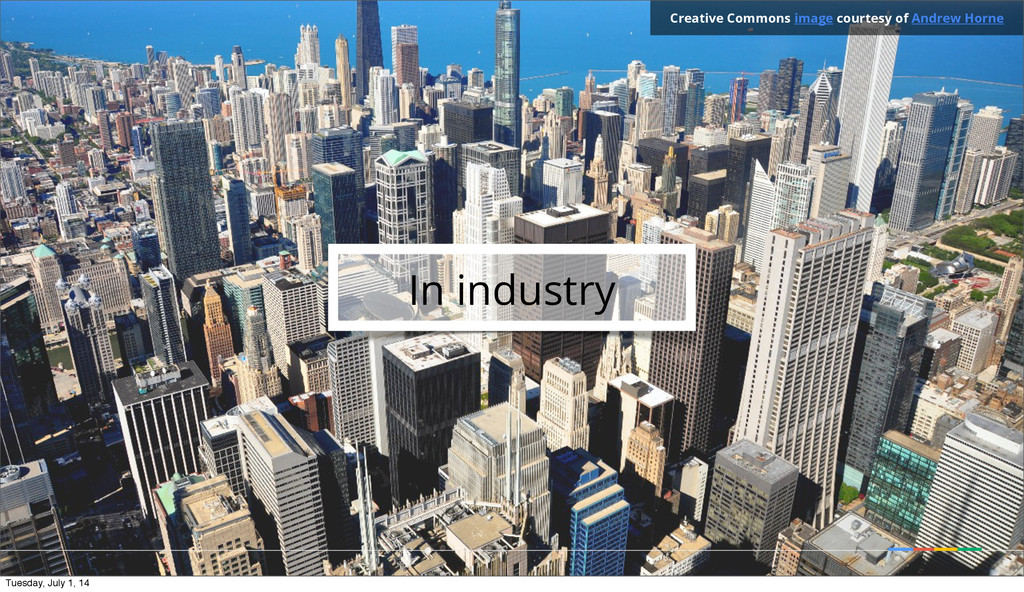 In industry Creative Commons image courtesy of ...