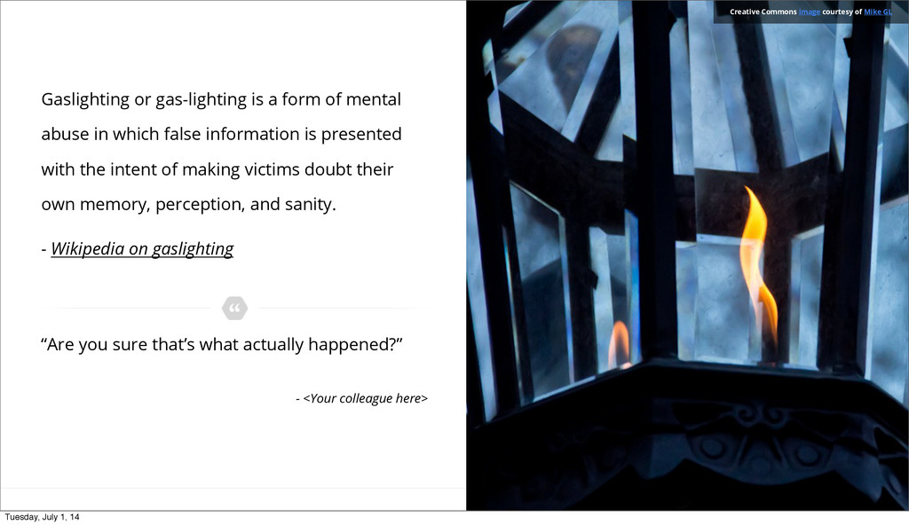 Gaslighting or gas-lighting is a form of mental...
