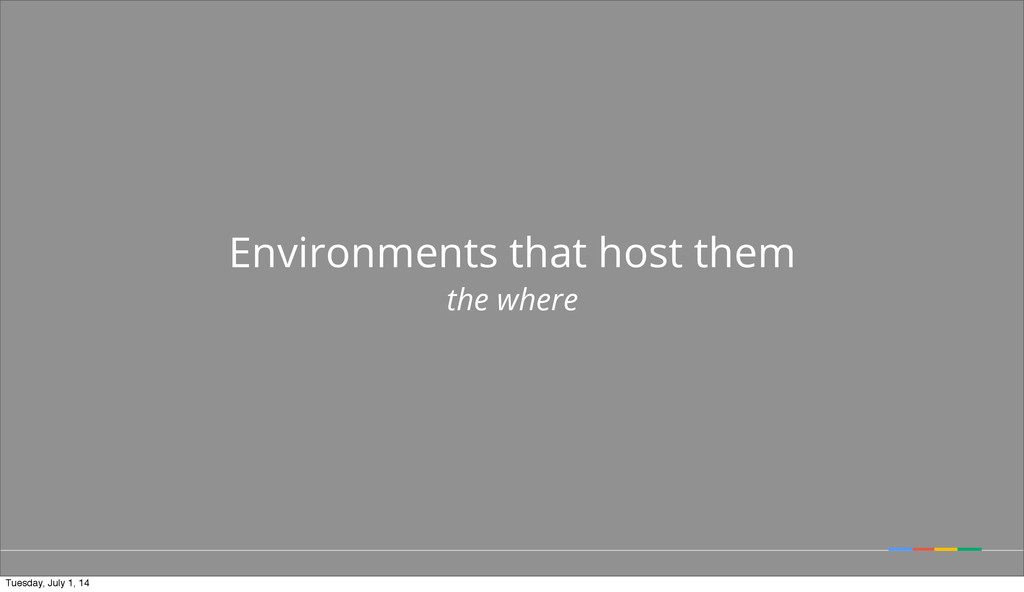 Environments that host them the where Tuesday, ...