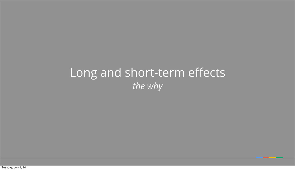 Long and short-term effects the why Tuesday, Jul...