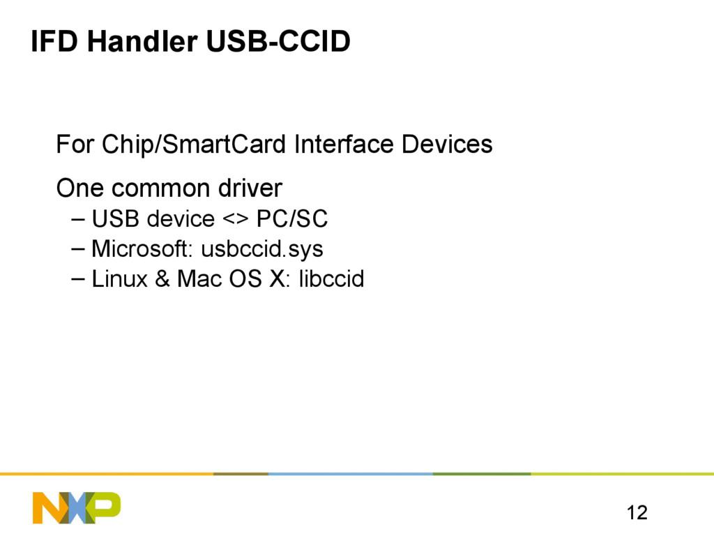12 IFD Handler USB-CCID For Chip/SmartCard Inte...