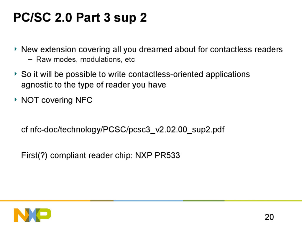 20 PC/SC 2.0 Part 3 sup 2 New extension coverin...