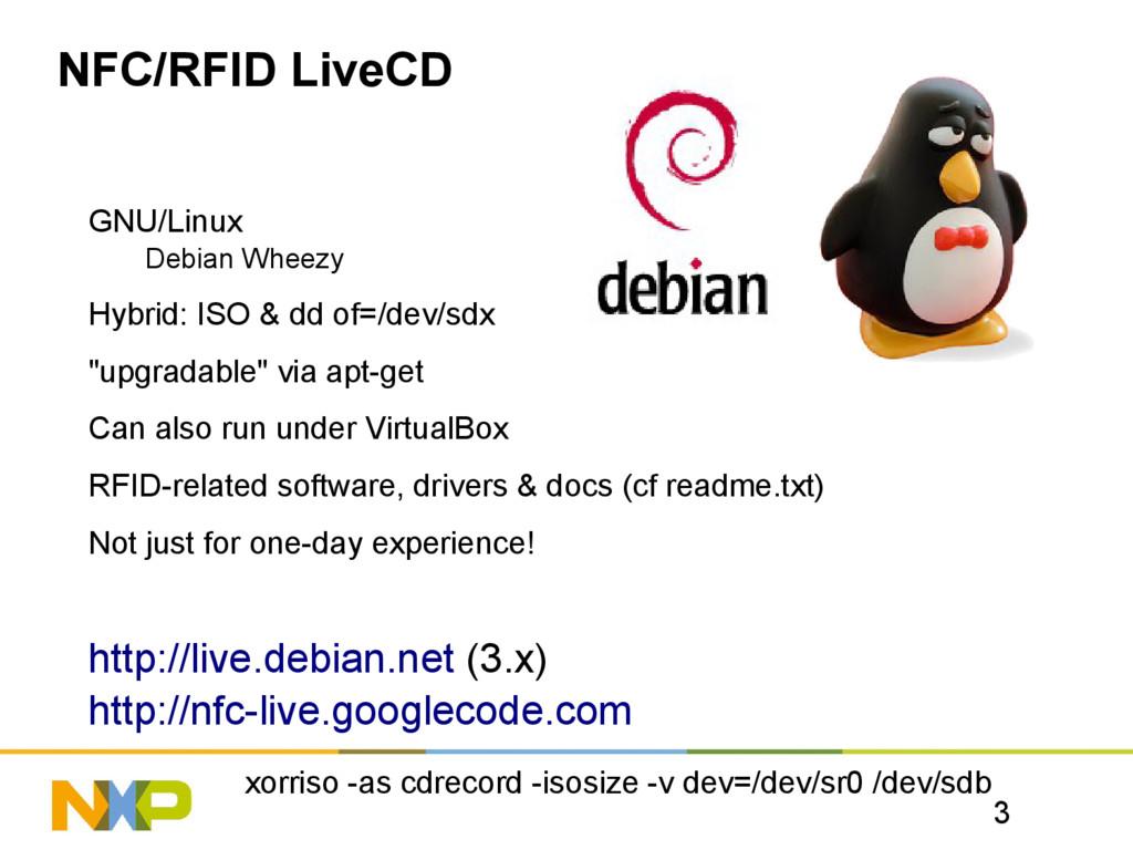 3 NFC/RFID LiveCD GNU/Linux Debian Wheezy Hybri...