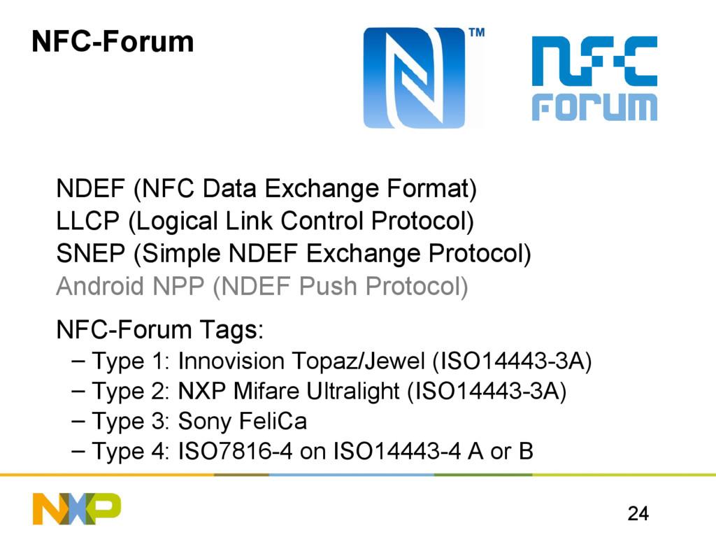24 NFC-Forum NDEF (NFC Data Exchange Format) LL...