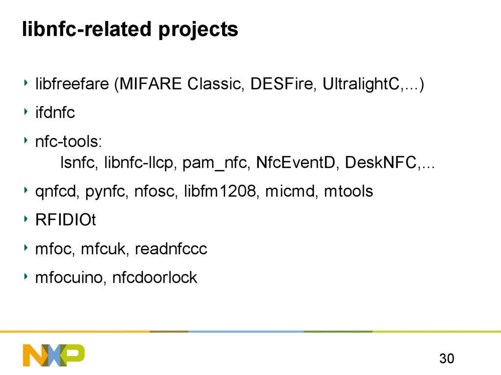 30 libnfc-related projects libfreefare (MIFARE ...