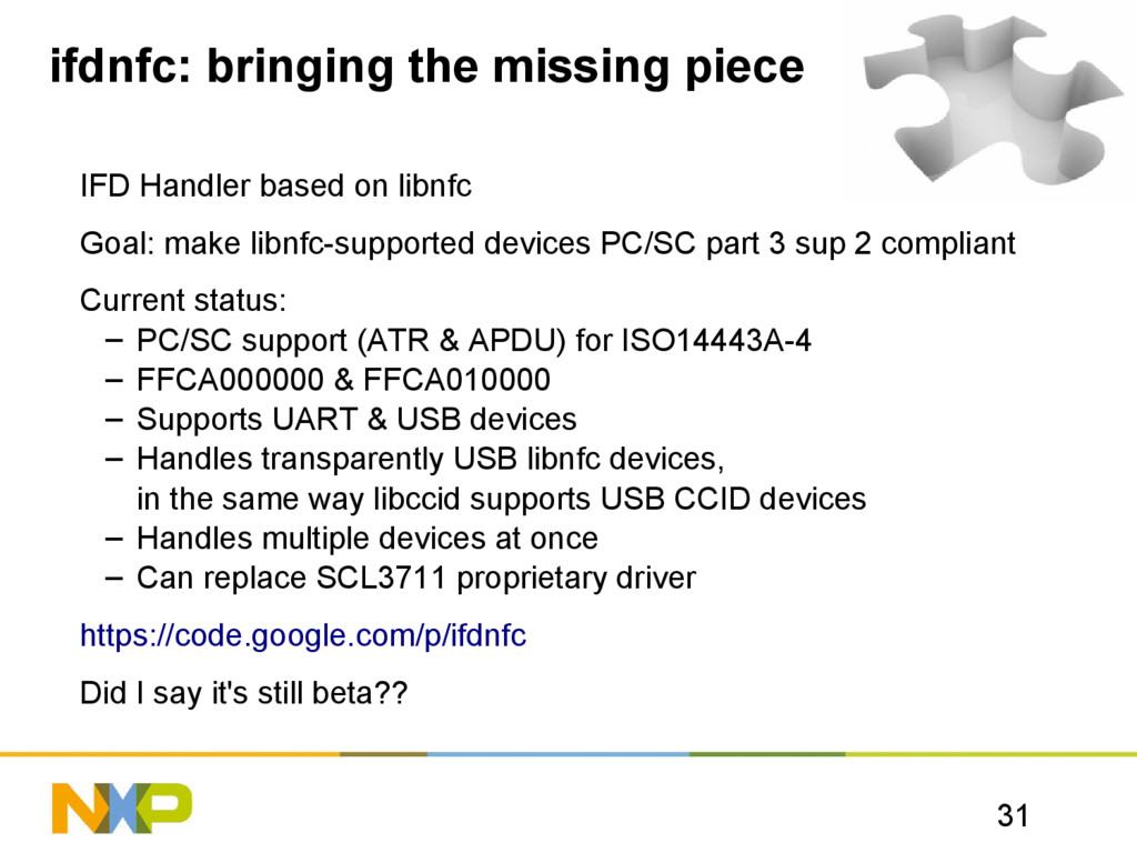 31 ifdnfc: bringing the missing piece IFD Handl...