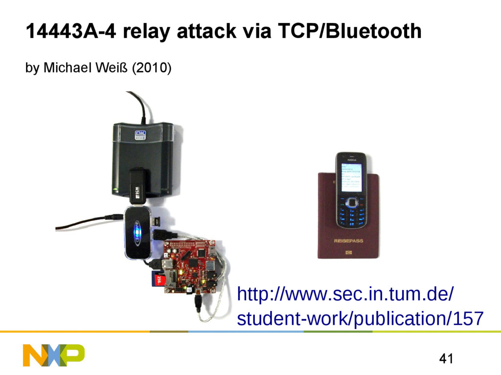 41 14443A-4 relay attack via TCP/Bluetooth by M...