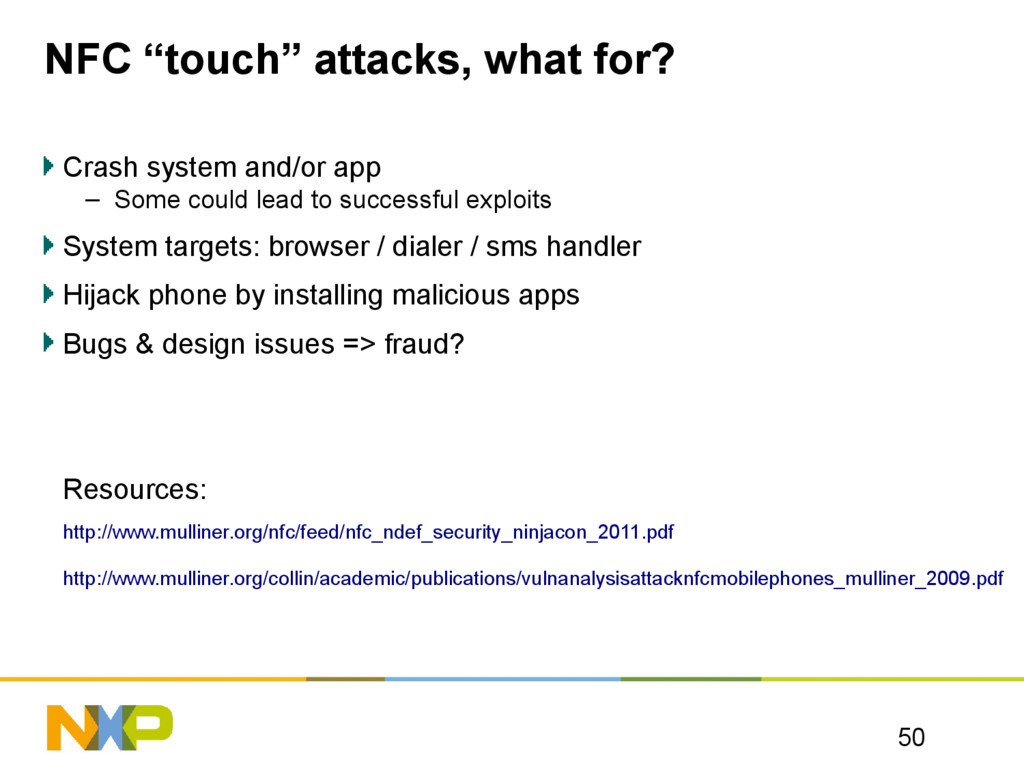 """NFC """"touch"""" attacks, what for? Crash system and..."""