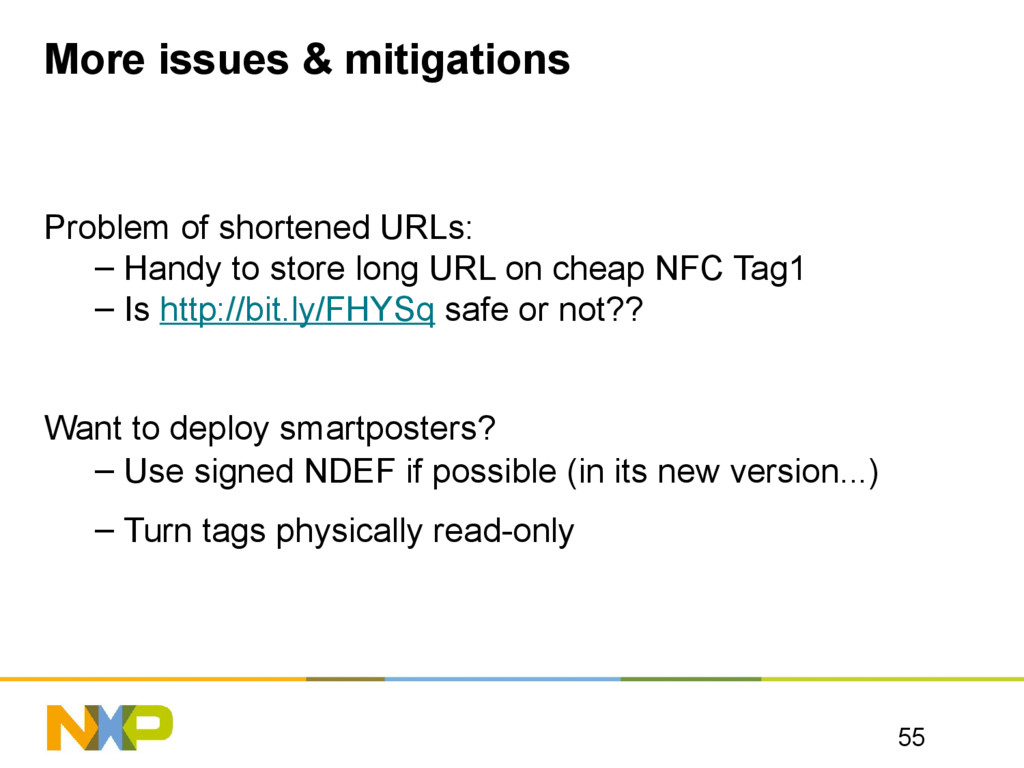 More issues & mitigations Problem of shortened ...