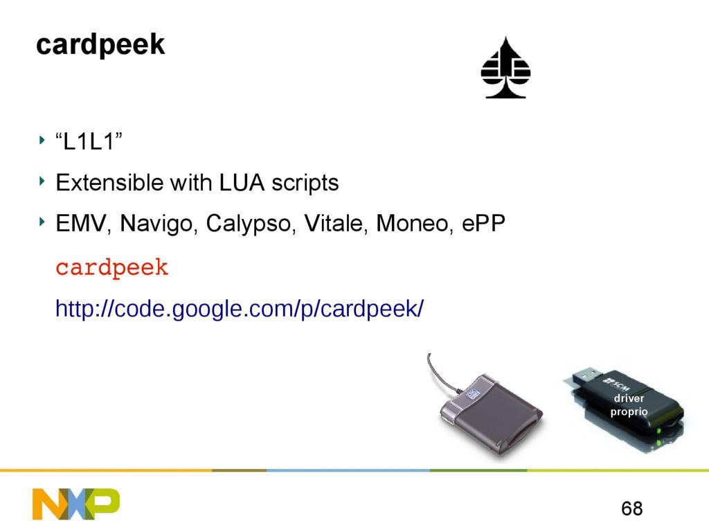 "68 cardpeek ""L1L1"" Extensible with LUA scripts ..."