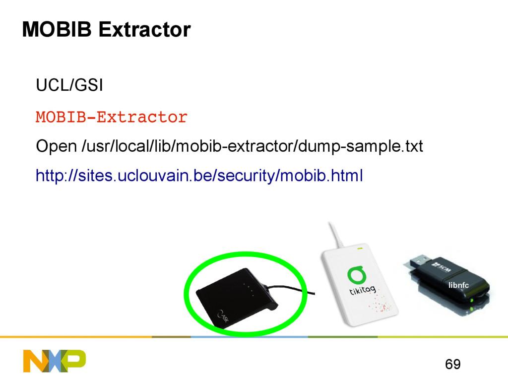 69 MOBIB Extractor UCL/GSI MOBIBExtractor Open...
