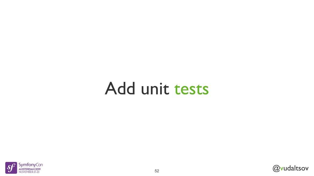 @vudaltsov Add unit tests 52