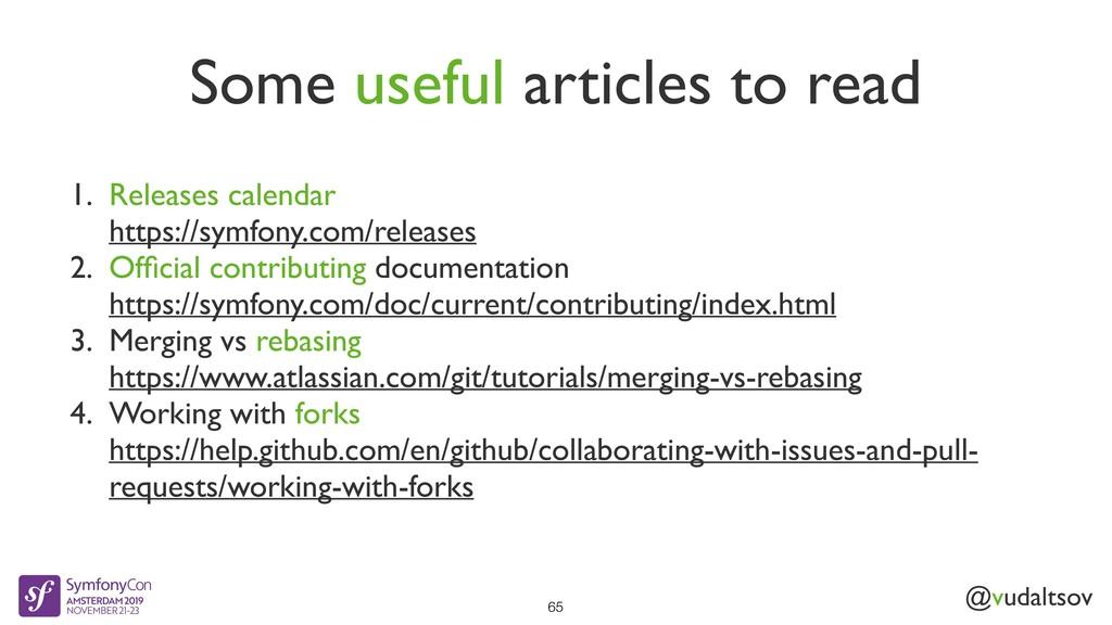 @vudaltsov Some useful articles to read 65 1. R...