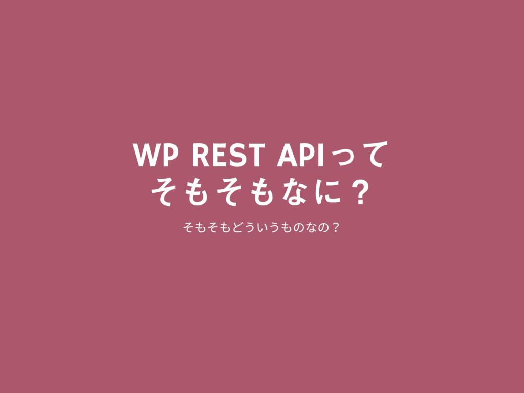 WP REST APIͬͯ ͦͦͳʹʁ וְֲֲךזך