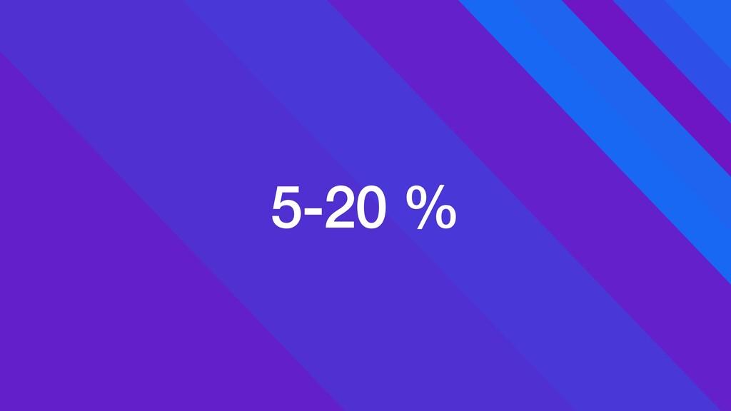 5-20 %
