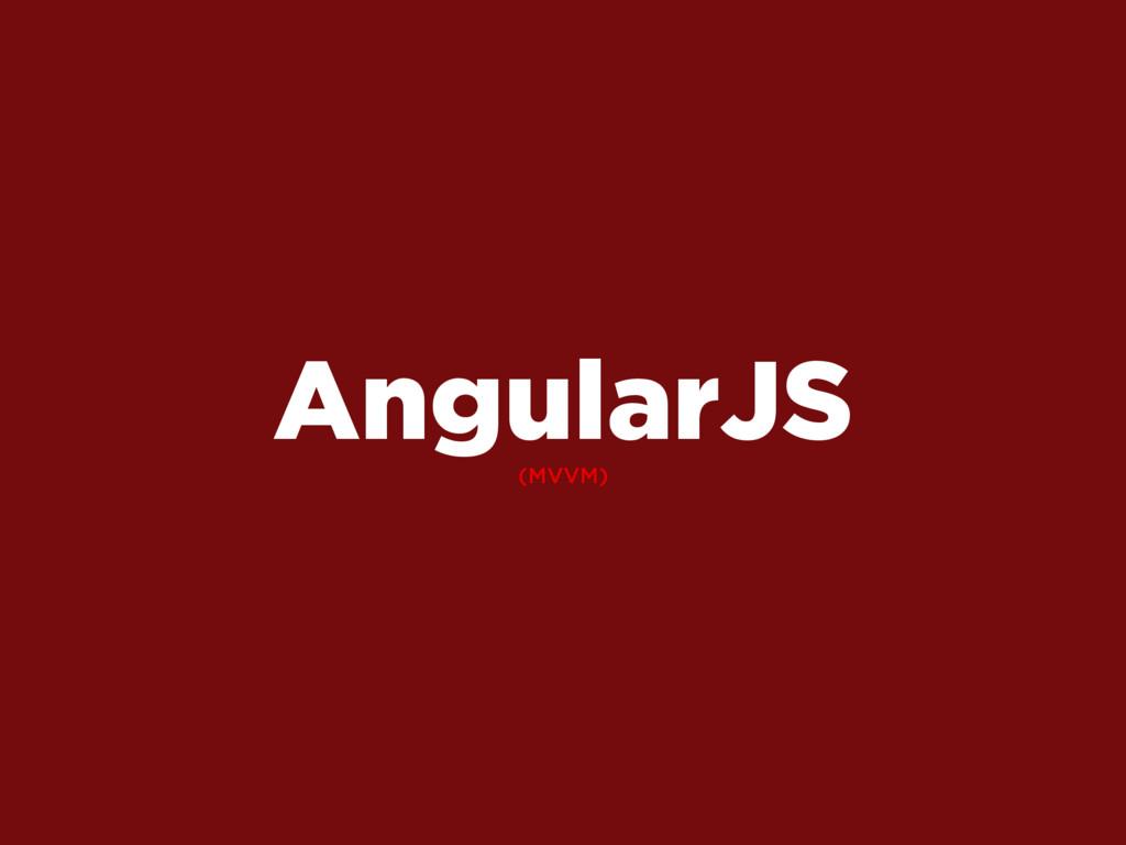 (MVVM) AngularJS