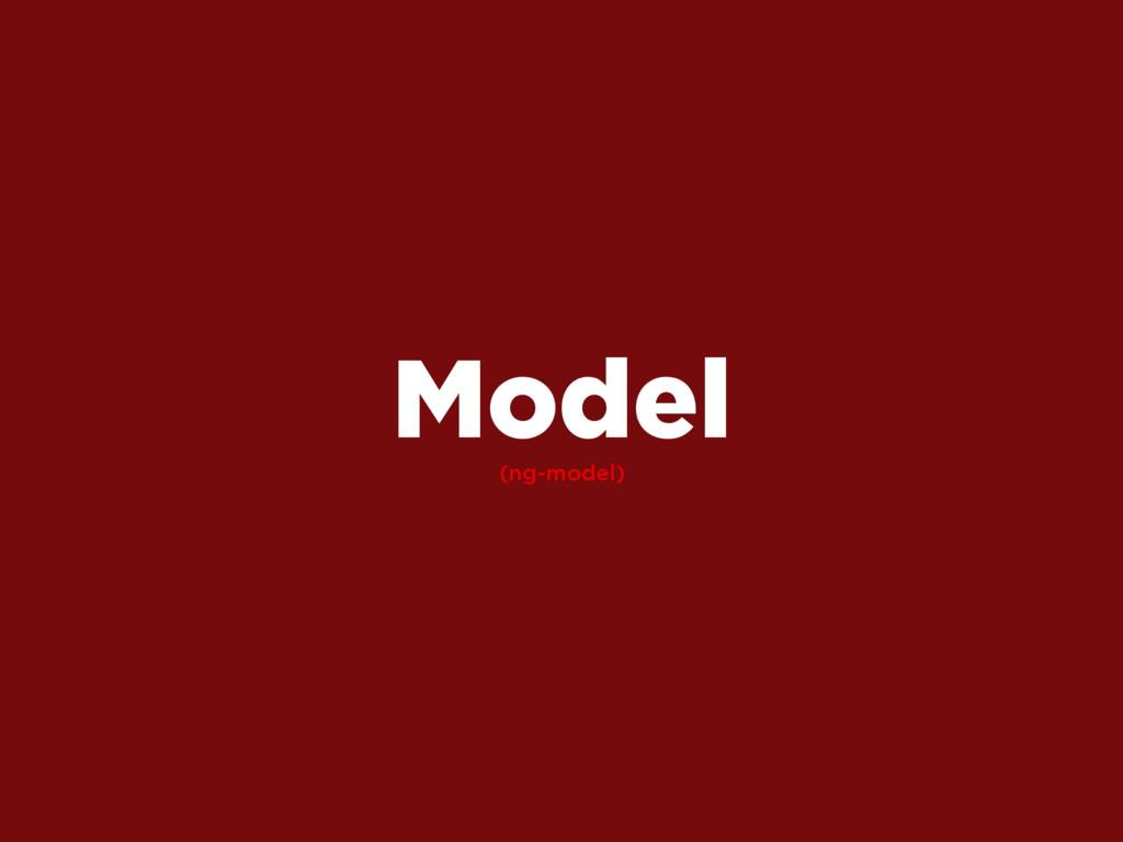 (ng-model) Model