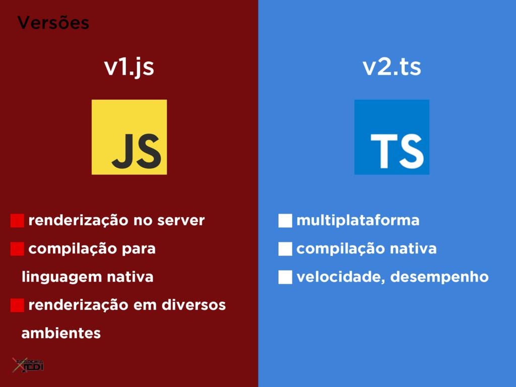 Versões v1.js v2.ts renderização no server comp...