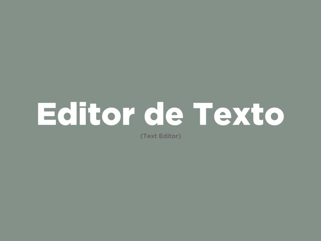 Editor de Texto (Text Editor)