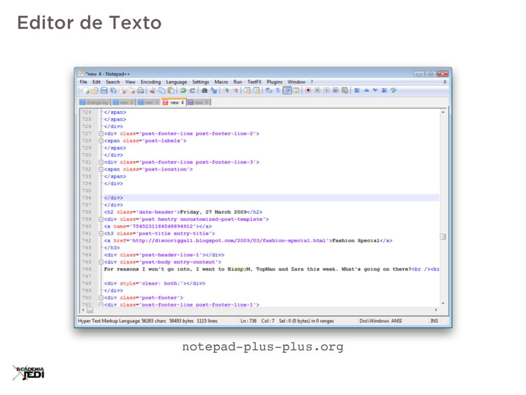 Editor de Texto notepad-plus-plus.org