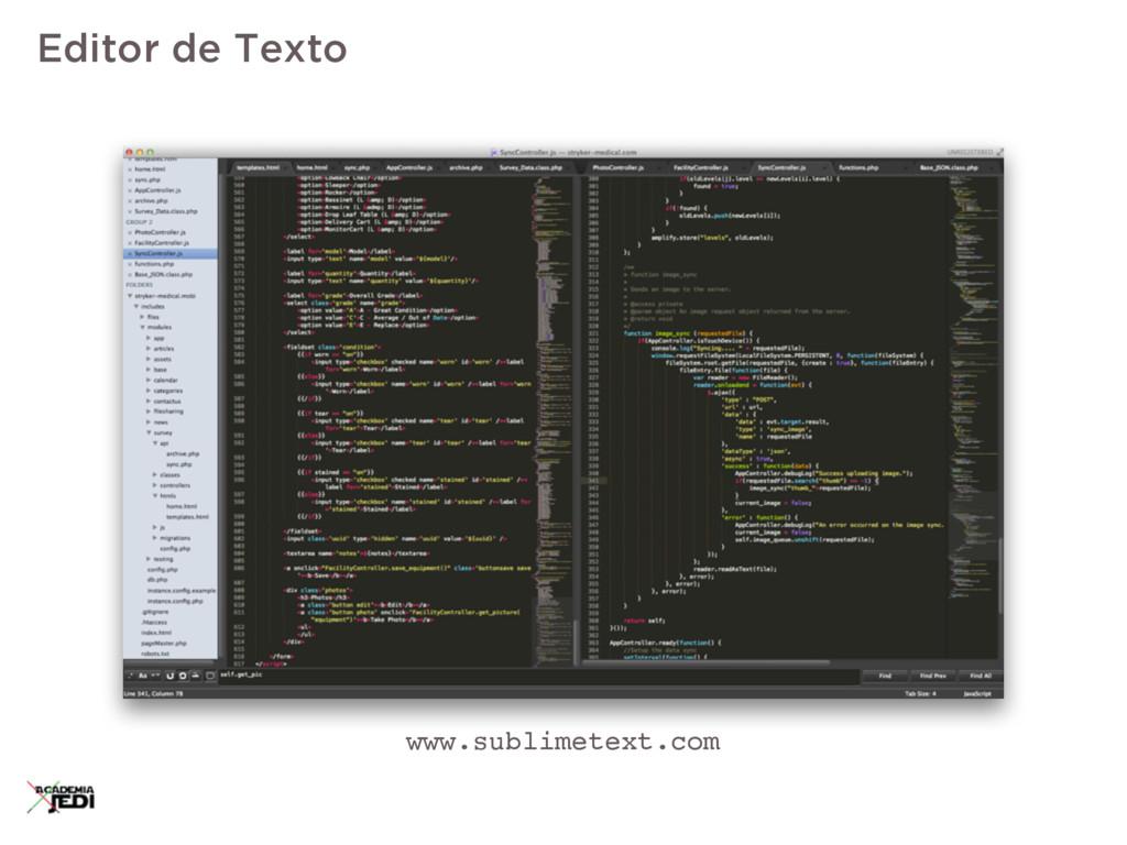 Editor de Texto www.sublimetext.com