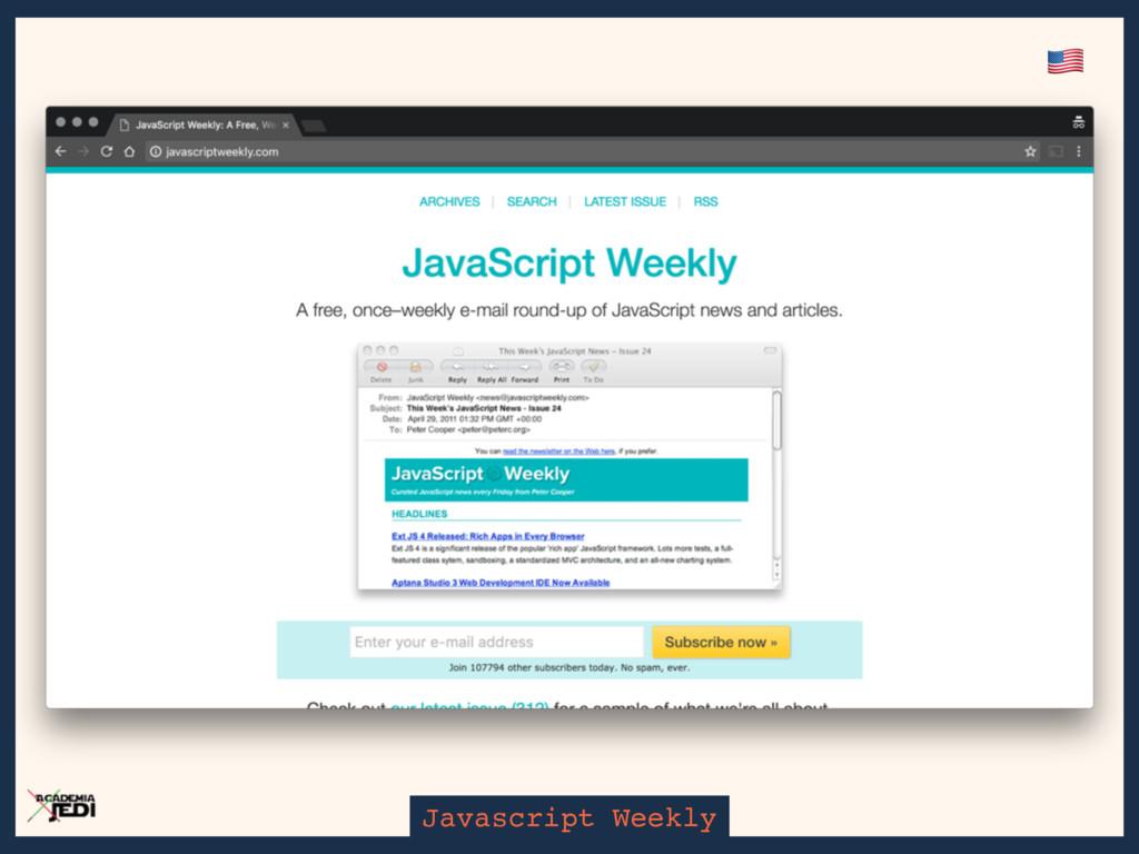 Javascript Weekly '
