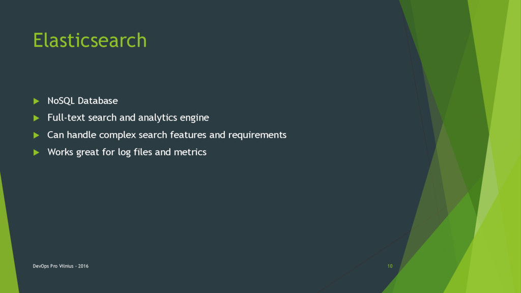 Elasticsearch  NoSQL Database  Full-text sear...