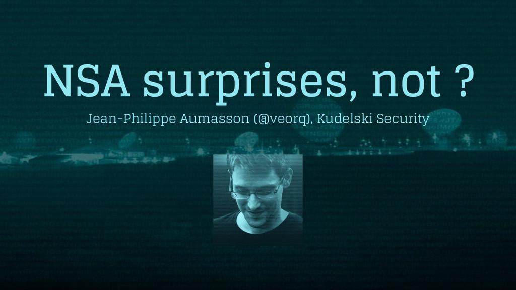 NSA surprises, not ? Jean-Philippe Aumasson (@v...