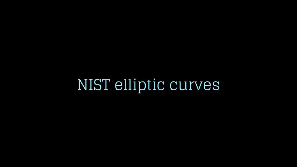 NIST elliptic curves