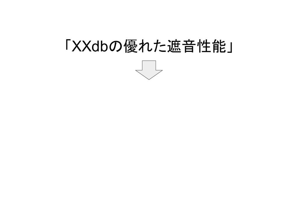 「XXdbの優れた遮音性能」
