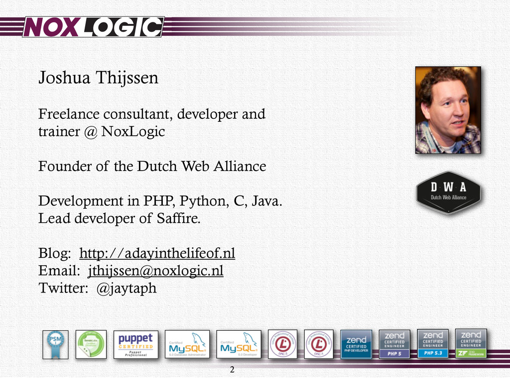 2 Joshua Thijssen Freelance consultant, develop...