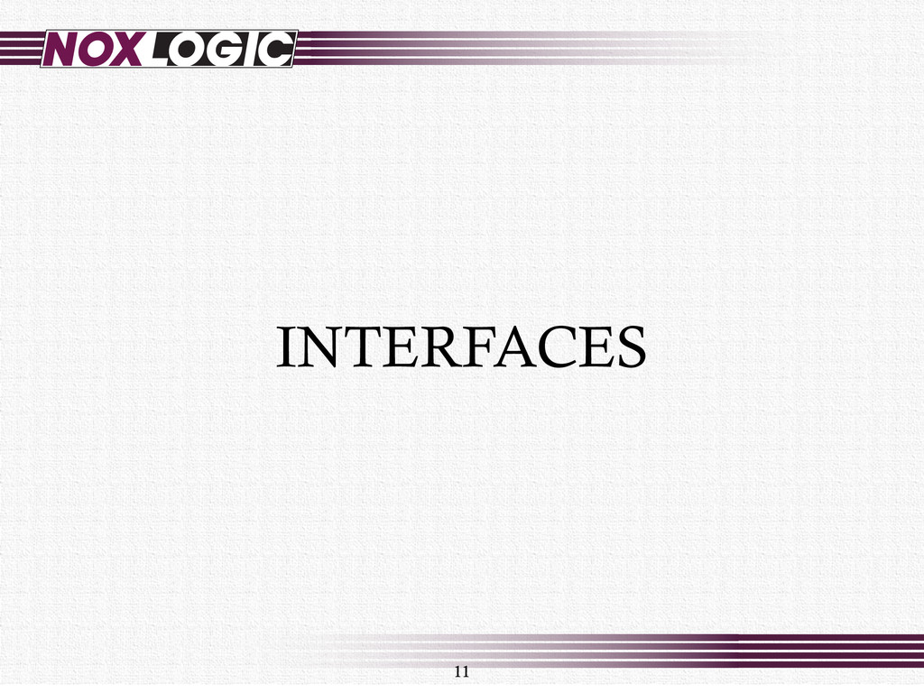11 INTERFACES