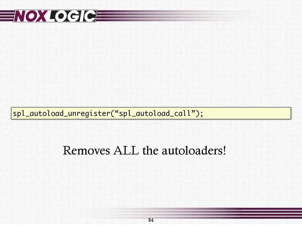 """84 spl_autoload_unregister(""""spl_autoload_call"""")..."""