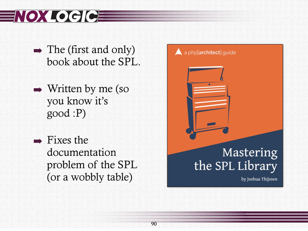 90 ➡ The (first and only) book about the SPL. ➡...