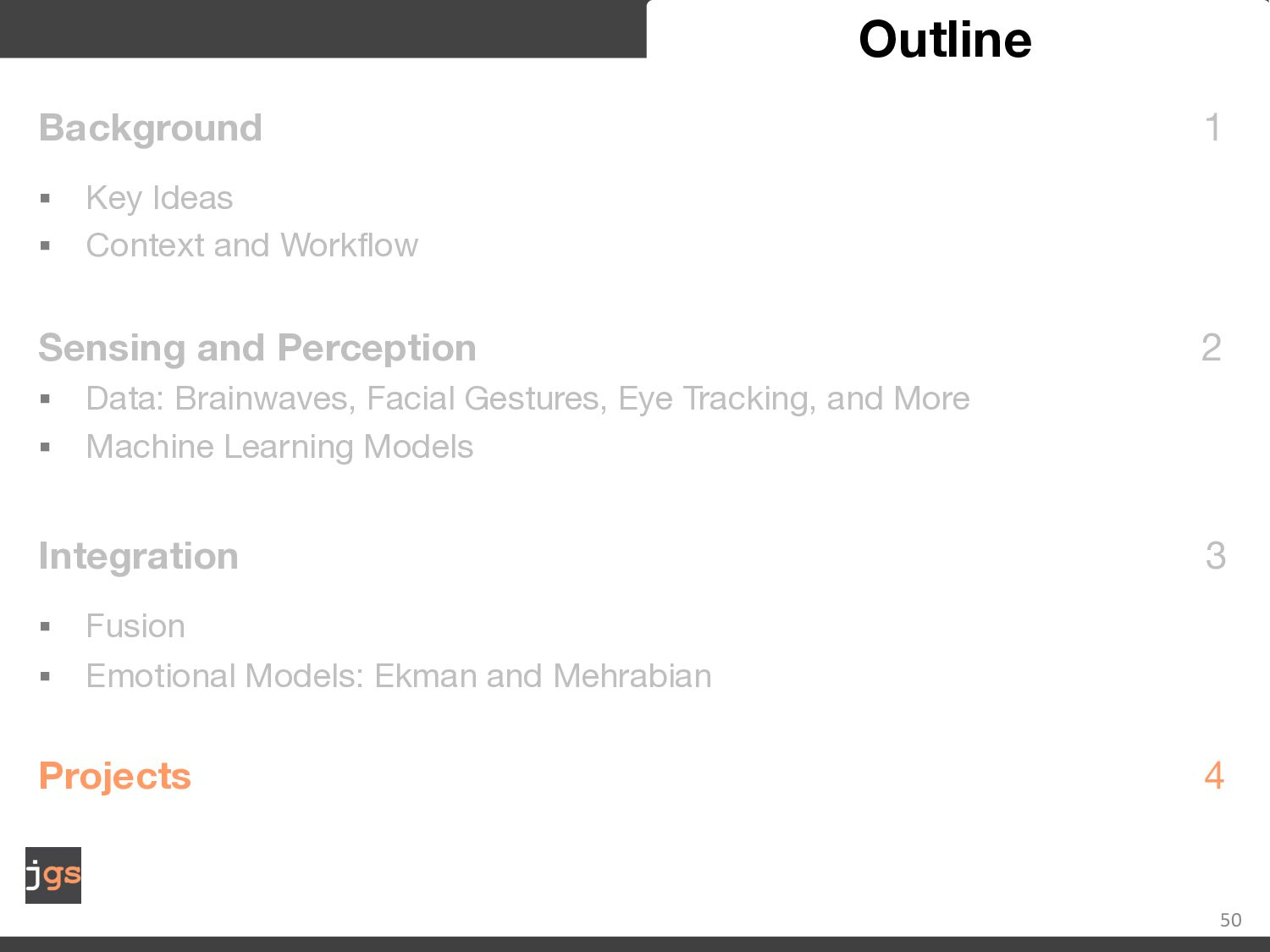 50 Affect Recognition BCI and Gaze Points engag...