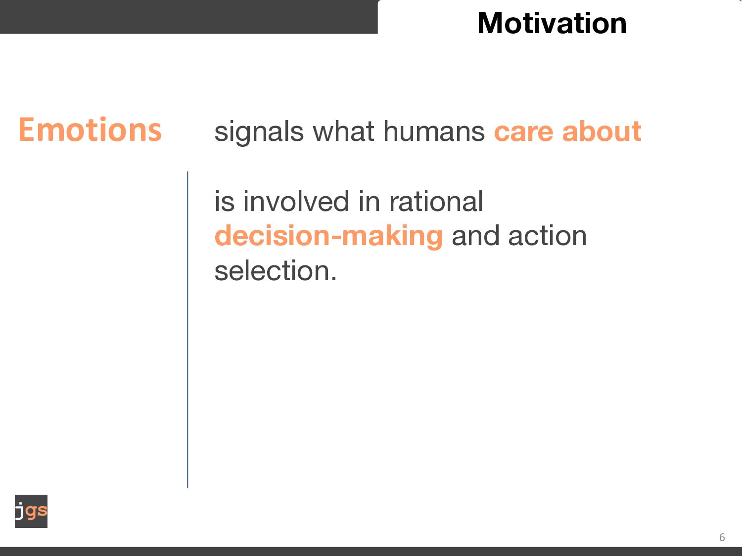 6 Motivation rational decision-making