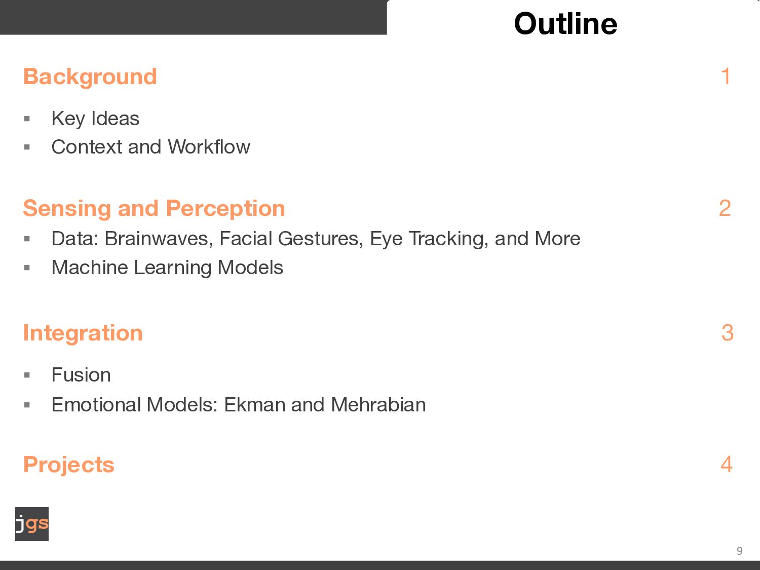 9 Key Ideas Affect, affective state, emotion, e...