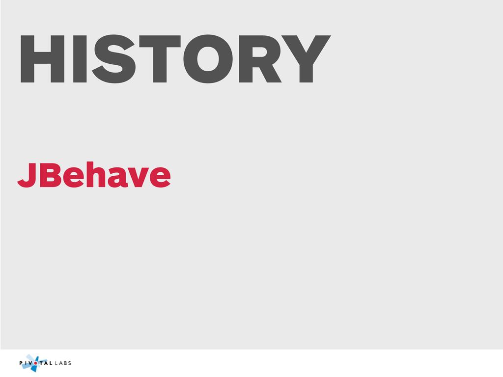 HISTORY JBehave
