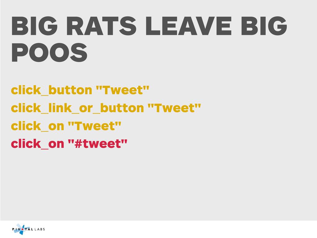 """BIG RATS LEAVE BIG POOS click_button """"Tweet"""" cl..."""