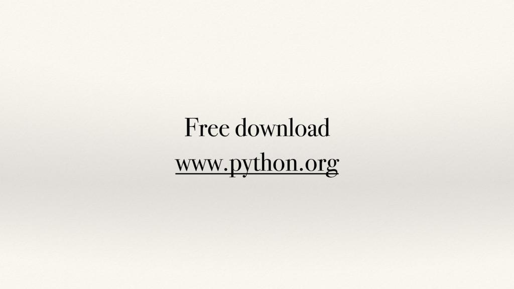 Free download www.python.org